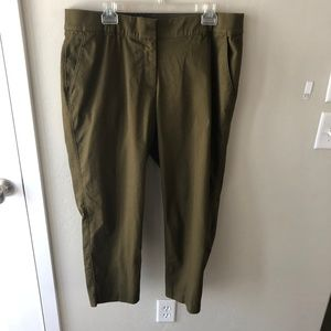 Lane Bryant The Lena Olive Green Ankle Pants 18